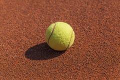 De macro van de tennisbal Stock Foto's