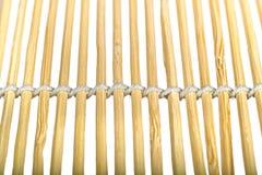 De macro van het bamboe sunblind Stock Foto's