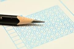De Macro van het Blad van de test Stock Fotografie