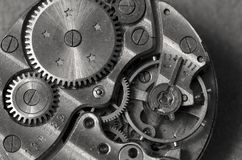 De macro van het horlogemechanisme Royalty-vrije Stock Foto's