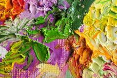 De macro van het kunstenaars` s palet Stock Foto