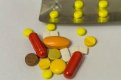 De macro van het pillenclose-up Royalty-vrije Stock Afbeelding