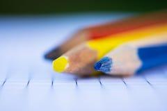 De macro van kleurenkleurpotloden Royalty-vrije Stock Foto