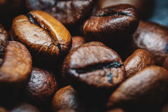 De Macro van koffiebonen Royalty-vrije Stock Fotografie