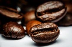 De Macro van koffiebonen Royalty-vrije Stock Foto's