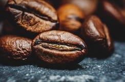 De Macro van koffiebonen Royalty-vrije Stock Afbeelding