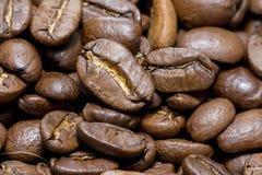 De macro van koffiebonen fullscreen Royalty-vrije Stock Foto's