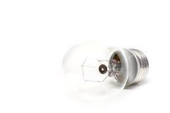 De macro van Lightbulb in highkey stock afbeeldingen
