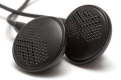 De Macro van oortelefoons Stock Foto