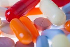 De macro van pillen en van lusjes Royalty-vrije Stock Foto's
