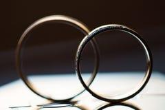 De macro van trouwringen stock foto