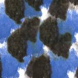 De macro Zwarte, donkerblauwe textuur van de vlekvlek op witte B Stock Foto's