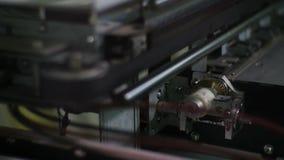De macrocamera toont Drukmachine Verschillende Delen stock video