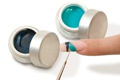 De macroclose-up van het manicureproces Royalty-vrije Stock Foto's