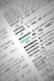 De MacroClose-up van het succes, het Concept van het Woordenboek Royalty-vrije Stock Afbeelding