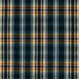 De macrofoto van de geruit Schots wollen stoftextuur Stock Fotografie