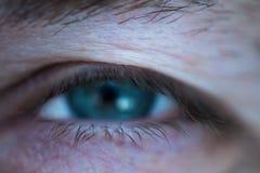 De macrofoto van mensen` s ogen Royalty-vrije Stock Fotografie