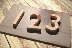 123 de madeira Fotos de Stock