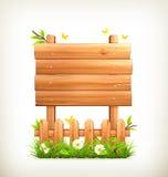 De madeira assine dentro a grama Imagem de Stock Royalty Free