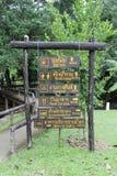 De madeira assine dentro Pong Duet Hot Springs fotos de stock royalty free