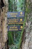 De madeira assine dentro Pong Duet Hot Springs imagem de stock