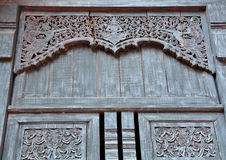 de madeira cinzelado para o templo Imagem de Stock Royalty Free