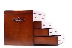 de madeira escuro da caixa Fotografia de Stock