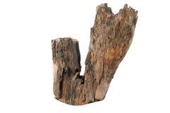 De madeira velho no isolado branco imagens de stock royalty free