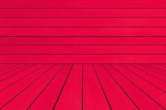 De madeira vermelho vazio para o contexto Imagem de Stock Royalty Free