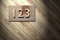 123 de madera Fotografía de archivo libre de regalías