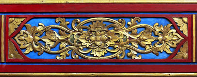 De madera adornada imagen de archivo libre de regalías