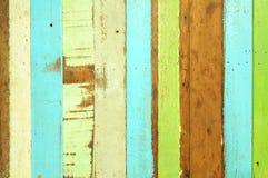 De madera colorido áspero Fotos de archivo libres de regalías