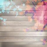 De madera con la pintura salpica la plantilla EPS10 más Imágenes de archivo libres de regalías