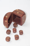 De madera corta en cuadritos en la tabla Imágenes de archivo libres de regalías