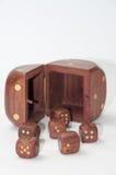 De madera corta en cuadritos en la tabla Fotografía de archivo