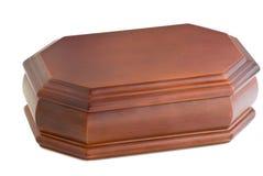 De madera del ataúd tallada. Foto de archivo libre de regalías