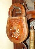 De madera del vintage padlocked Foto de archivo libre de regalías