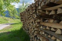 De madera en jardín Foto de archivo