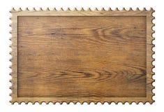 De madera firme adentro el impreso del bastidor del sello aislado en blanco fotos de archivo