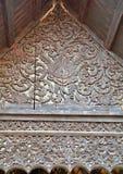 De madera tallada para el lanna del templo Foto de archivo