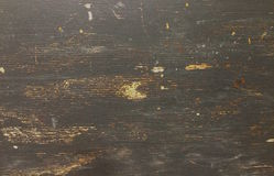 De madera viejo envejecida rústico de los tableros de madera ásperos sucios con la pintura negra Fotografía de archivo libre de regalías