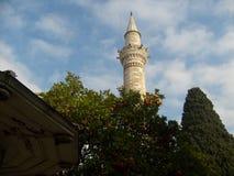 De madrasamoskee van Konyamevlana, hes het enige geestelijke kwam in deze wereld aan geen kwestie wat, denker Royalty-vrije Stock Foto's