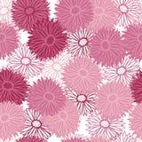 De magenta kunst van de de lentelijn bloeit vectorpatroon Stock Fotografie