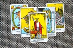 De Magische Controle van Tovenaartarot card power Intelect royalty-vrije illustratie