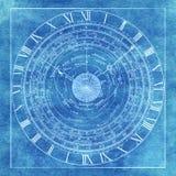 De magische esoterische achtergrond van de de astrologiegrafiek van de occlutmysticus royalty-vrije illustratie