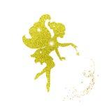 De magische fee met stof schittert vector illustratie