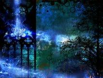 De magische geheimzinnigheid achtergrond van de tijdmachine Stock Foto's