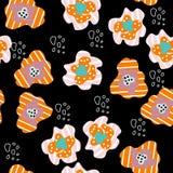 De magische kleuren vatten naadloos patroon samen vector illustratie