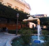 De magische kraan van villa San Giuseppe in terrasiniprovincie van Palermo royalty-vrije stock afbeeldingen