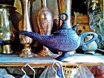 De magische lamp van Aladdin Stock Afbeelding